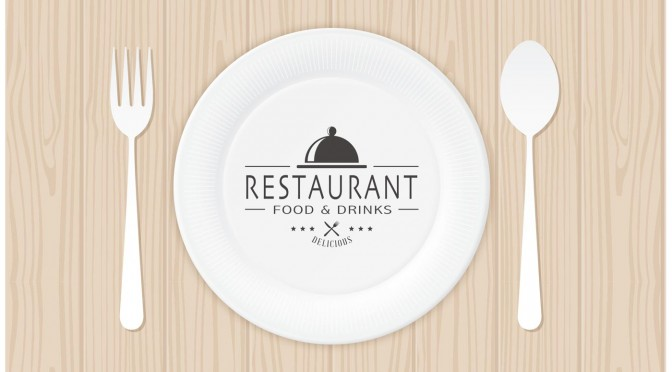 free-restaurant-logo-on-paper-plate-vector
